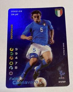 Football Champions Cannavaro Foil 2002-2003 Italia 72/107 Condizioni Ottime