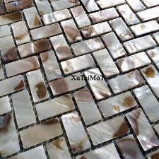 New 11pcs shell mosaic tile herringbone zip pattern kitchen shower decoration