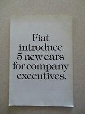 1970s Fiat 132 ES car advertising brochure