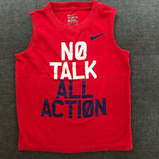 Nike Sleeveless Shirt No Talk All Action - 5-6 - Excellent Condition - Free Ship