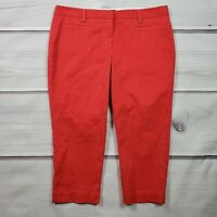 Land's End Crop Capri Chino Pants Womens Size 16P Solid Red Stretch Fit 2 NWT