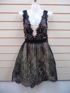 Little- Mistress ladies Dress Size 6 Black Lace Detail Party BNWT   G028