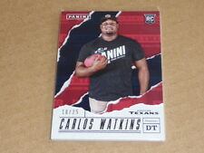 2017 Panini Father's Day CARLOS WATKINS THICK PARALLEL TEXANS /25 E620