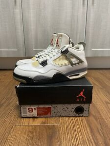 Air Jordan 4 Retro White Cement (Size 9.5)