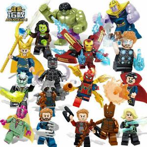 16pcs Marvel Avengers Super Hero Hulk Batman Action Blocks Kid Mini Figures Toys