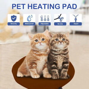 AU Safety Electric Pet Heating Pad Dog Cat Heat Warming Mat Round Blanket Bed
