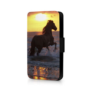 Horse Sunset Phone Flip Case For iPhone - Huawei