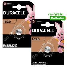 2 x Duracell CR1620 Coin Cell Battery 3V Lithium DL1620 1620 BR1620 ECR1620 NEW