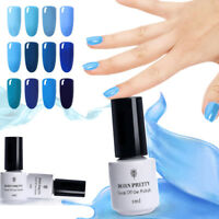 5ml UV Gel Nail Polish Soak Off Blue Series  Gel Varnish Born Pretty