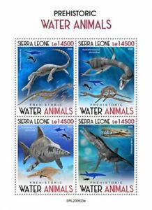 Sierra Leone Dinosaurs Stamps 2020 MNH Prehistoric Water Animals 4v M/S