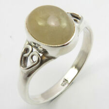 Sz 9 Free Shipping New Art Jewelery 925 Solid Sterling Silver Golden Rutile Ring