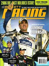 2006 Beckett Racing Magazine Signed by Jimmie Johnson Kevin Harvick Denny Hamlin