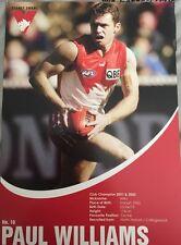 Paul Williams A4 Size Sydney Swans Collectors Autograph Card
