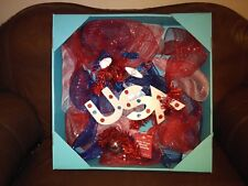 """4th of July """"USA"""" Patriotic Wreath 24 Inch"""