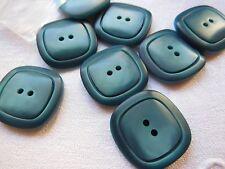lot 6 boutons bleu relief diamètre: 2,4 cm  mercerie 2 trous ref 553