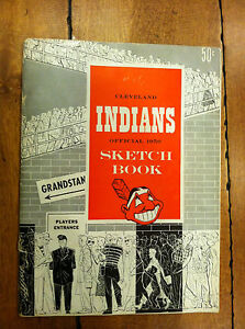 1950 Cleveland Indians Sketch Book / Year Book Yearbook