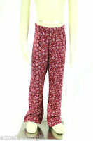 JACADI Girl's Songel Prune Floral Flared Jersey Legging Size: 8 Years NWT $32