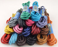 WAXED THIN COTTON SHOE LACES SHOELACES - 2mm wide - 75cm long - LOTS OF COLOURS!