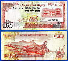 Mauritius 100 Rupees 1986 Prefix A Africa Banknote Maurice Free Shipping World
