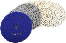 "4"" Dry Diamond Polishing Pads Set of 7 for Marble/Granite/Concrete Countertop"