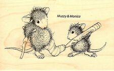 Cast Coloring HOUSE MOUSE Wood Mounted Rubber Stamp STAMPENDOUS, NEW - HMM08