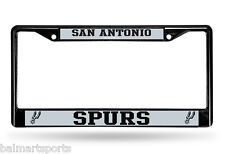San Antonio Spurs BLACK Chrome License Plate Frame 3D Metal Custom MLB Official