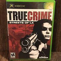 Xbox True Crime: Streets of L.A.(Microsoft Xbox,2003) Manual and Disc Mature 17+