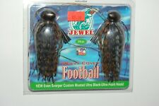jewel bait 3/4oz heavy cover bass football jig peanut butter smoke 2 pr pack