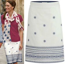 Cotton Blend A-line Casual Regular Size Skirts for Women