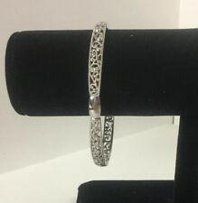 Vintage Silver Tone Filigree Bracelet Elastic
