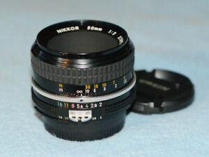 Nikon NIKKOR 50mm f2 AI Lens - Near Mint!!! Prime - Manual Focus