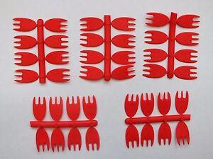 40 RED BAIT FLAGS,PIKE PREDATOR,FISHING