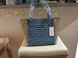 NWT New Brahmin Handbag Asher Tote Bag Medium in Cerulean Melbourne