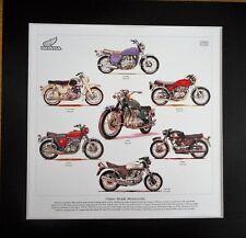 Classic Honda Motorcycles Stunning Artwork Print