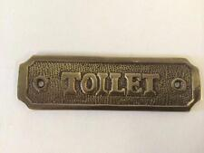 Toilet Door Sign Solid Brass With a Antique Bronze Finish 10.5 X 3cm Comes With