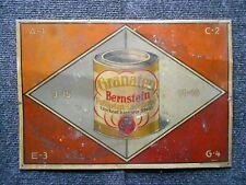 Bernstein Lacke altes Blechschild um 1920