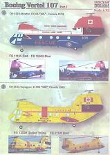Print Scale Decals 1/72 BOEING VERTOL 107 Helicopter Part 1
