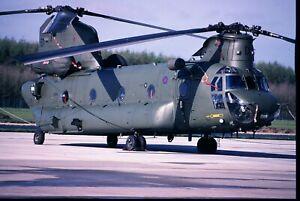 4-23 ORIGINAL K64 AIRCRAFT SLIDE:  RAF Boeing Vertol CH-47D Chinook ZA681/ED