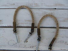 Rope Jute Metal HANDLE Drawer Pull ~ Decor Handle Nautical Western rope Knob