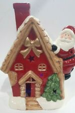 Large Light Up Santa House with LED Colour Changing Lights, Decorative #NG