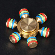 Fidget Hand Spinner Hexagon Metal RUDDER Toy EDC ADHD Autism WITH FREE GIFT BOX