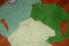 wow 3er Set Leinen Weste Longsleeve Pulli + Polo in grün Theo Wormland minimum