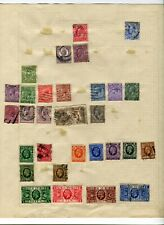 UK STAMPS COLLECTION PAGES INCLUDING HIGH VALUE AND UNUSED STAMPS