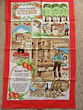 NEW COTTON TEA TOWEL 'WEST COUNTRY CYDER'  recipe for Sunset Sip