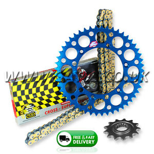 Yamaha YZF450 2003-2017 Regina ORN-6 O'Ring Chain And Blue Renthal Sprocket Kit