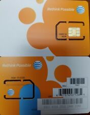 AT&T - STANDARD 2FF SIM Card • GSM 4GLTE • NEW OEM Prepaid or Contract