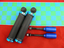 BLUE/ BLACK SCOOTER OR BIKE GRIPS + FIREWHEEL-INC BLUE GRIND PEGS + GRIP TAPE