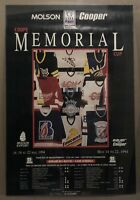 1994 Molson Cooper Coupe Memorial Cup Lineup Hockey Poster Laval Quebec Canada