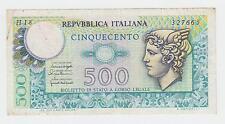 Italy banknotes - 500 Lire 1976 - REPVBBLICA ITALIANA - CINQUECENTO !