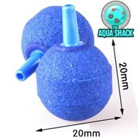 Small Round Aquarium Air Stones 20mm - Blue Bubble Ball Pond Pump Fish Oxygen